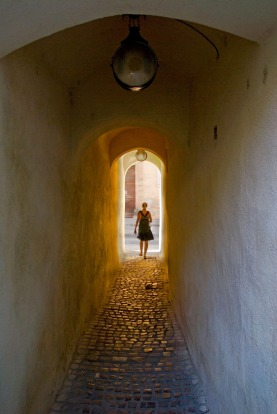 Rope Street - one of Europe's narrowest streets (1.32 m wide, 83 m long).