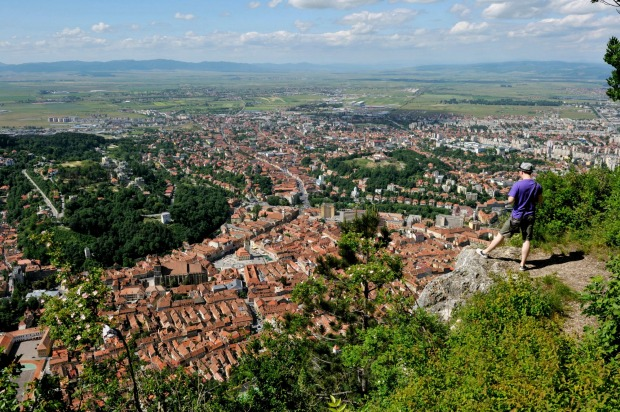 Brasov panorama from Mount Tampa.