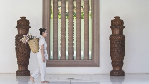 The massage therapists at Anantara Resort and Spa in Siem Reap, Cambodia, are deceptively strong.