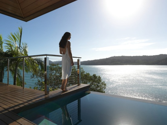 Ultimate luxury: The view from a Windward Pavilion at Qualia.