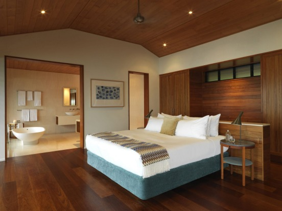 A Windward Pavilion bedroom at Qualia.