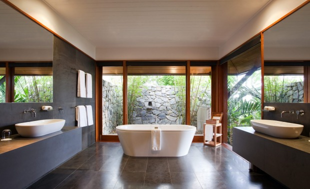 A Windward Pavilion bathroom.