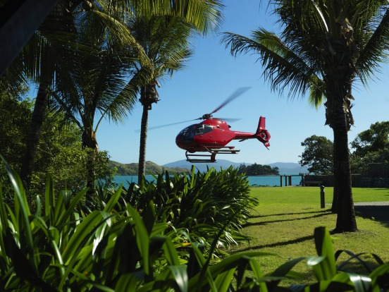 Qualia has its own helipad where you can catch a joy flight over the Great Barrier Reef.