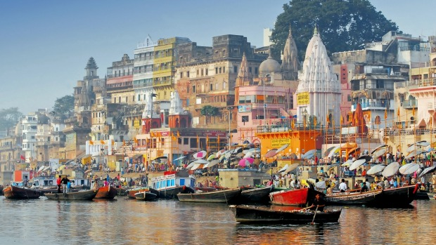 Exploring the Ganges River in India.