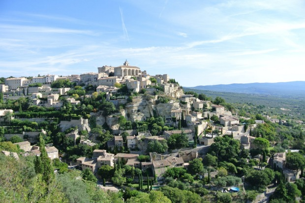 GORDES: Year round, is there a more arresting sight in Provence than the one from the precipitous viewing point on ...
