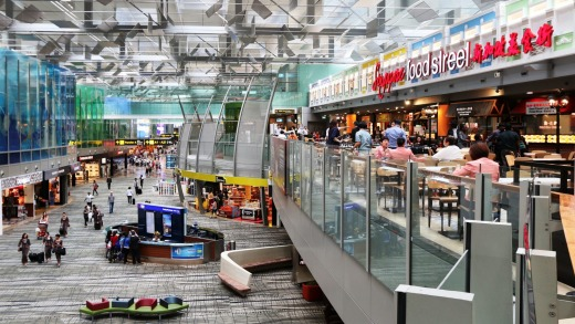 Singapore's Changi Airport is not only a place to shop or eat between flights, but also a comfortable place to catch 40 ...