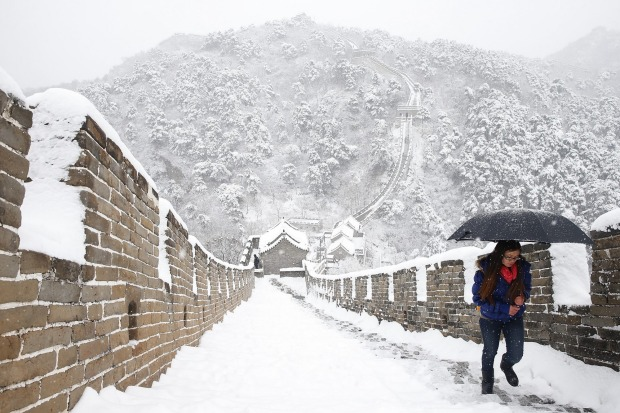 At No.7 is the Great Wall at Mutianyu, Beijing, China.