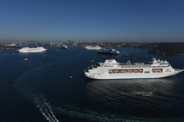 PO Five Ship Spectacular In Sydney Harbour Whats Happening - Cruise ship movements sydney harbour