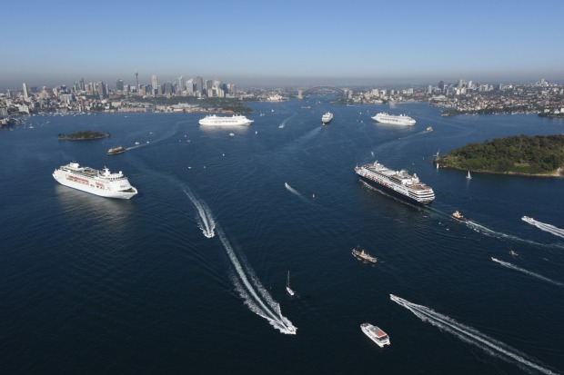 PampO Five Ship Spectacular In Sydney Harbour What39s