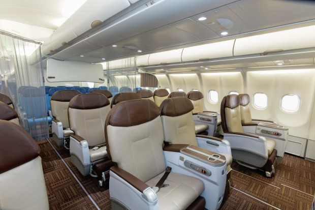 Hawaiian Airlines A330-200 Business class.