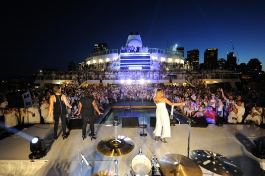 It's party time! The arrival of the P&O fleet into Sydney was music to the ears of a a great many...