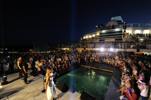 And Wednesday night's historic five-ship spectacular didn't disappoint, with P&O pulling out all stops to welcome two ...