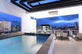 The rooftop pool at the Alex Perry Hotel in Brisbane.