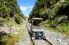 RAILWAY BUGGYING: What do you do when an old branch railway line is closed down? Why, you adapt golf carts to run along ...