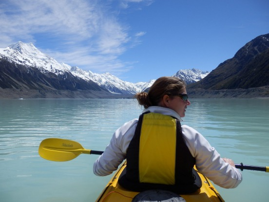 KAYAKING ON TASMAN LAKE: High up in the Alps, in the shadow of Mount Cook, an extraordinary glacier lake has formed. ...