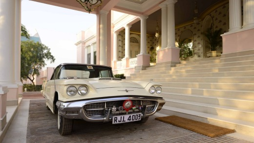 A Thunderbird that once belonged to the former maharajah.