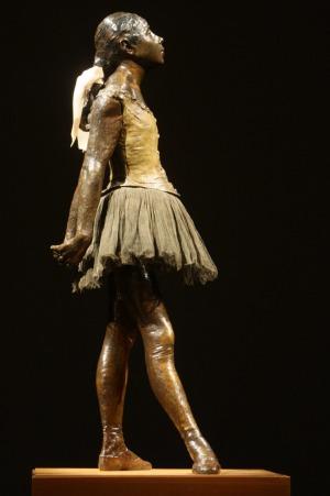 Degas Master of French Art at the National Gallery of Australia. Sculpture of Little dancer.