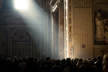 Light came through the windows at St Peter's Basilica with strength and brilliance on this particular day.
