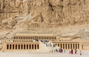 This extraordinary limestone landmark in the Valley of the Kings in Egypt was built originally as a funerary temple for ...