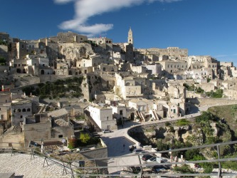 You arrive in Matera, in Basilicata, Southern Italy, on leaving the underground railway station, you see nothing ...