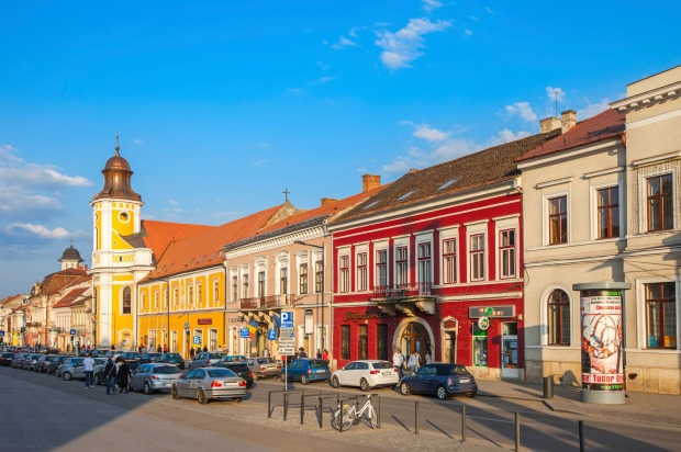 The old town of Cluj Napoca, Romania.