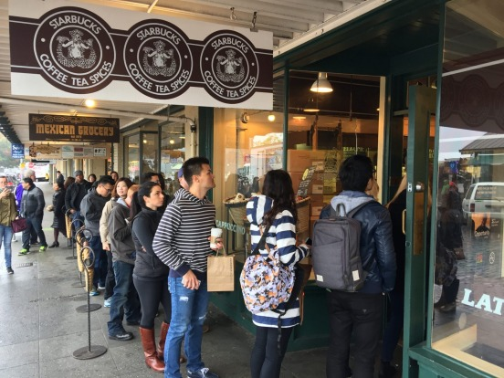 """""""It's a love-hate thing,"""" says Val, our guide on the Seattle Coffee Crawl walking tour. """"Plenty of people in Seattle ..."""