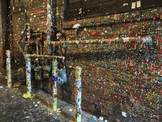 Seattle's infamous gum wall.