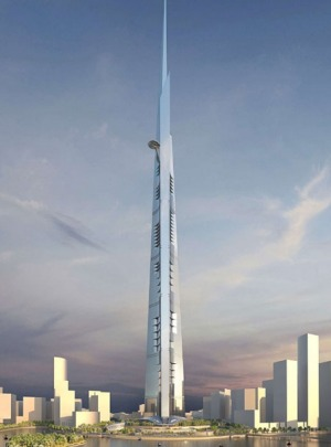 Containing 200 floors, the Jeddah Tower will be one kilometre high.
