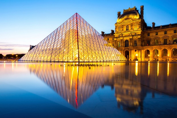 The Louvre, Paris: One of the most popular tourist destinations in France has over 60,000 square meters of exhibition ...
