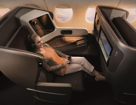 The spacious, well-appointed business class of Singapore Airlines' latest Boeing 777-300ER jets is arguably superior to ...