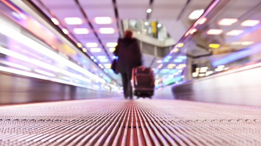 The travelator is not a relax-elator. Just because it whisks you along doesn't mean you've lost the power of locomotion.