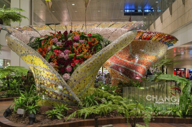 The interactive Enchanted Garden at Singapore's Changi Airport.