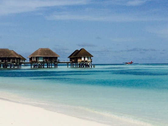 Over-water bungalows at Club Med Kani, Maldives.