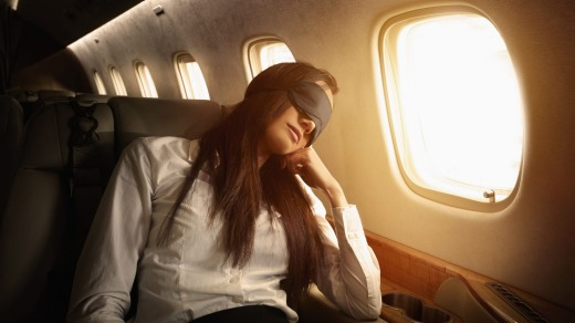 Eye masks are a must on a long-haul flight.
