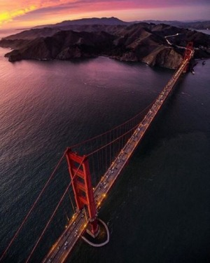 The Golden Gate Bridge in San Francisco, US.