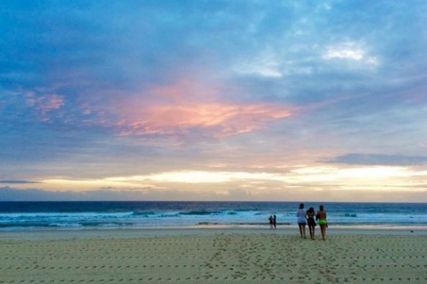 Surfers Paradise Beach in Queensland.