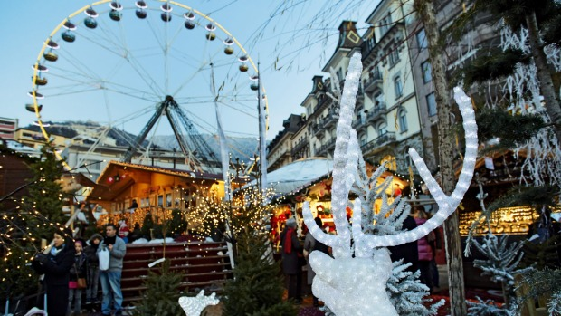 Christmas in Montreux, Switzerland.