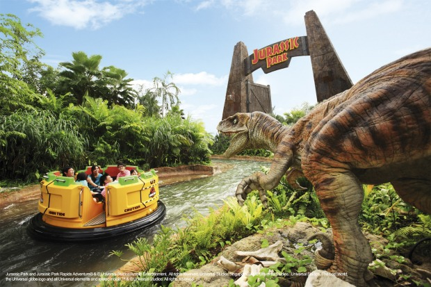 The Lost World - Jurassic Park Rapids Adventure, Universal Studios Singapore.