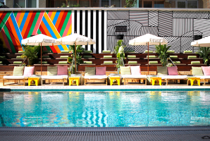 A 13-metre pool is one of the major attractions at the McCarren Hotel.