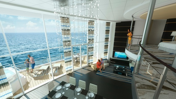 Ovation of the Seas the royal loft.