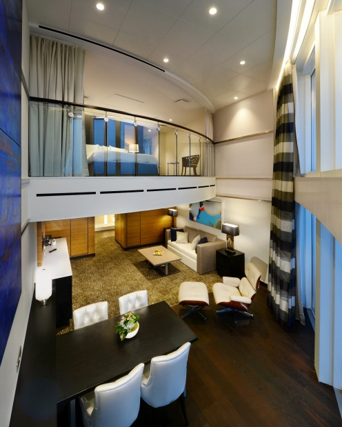 Ovation of the Seas owner's loft suite.