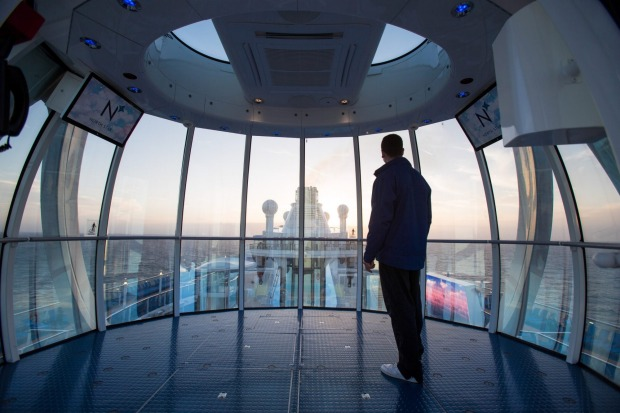 View from the pod of The North Star on Ovation of the Seas.