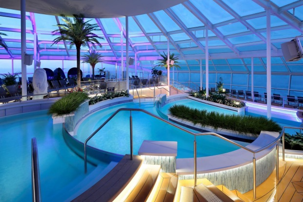 The solarium on Ovation of the Seas.