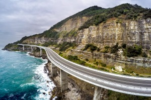 SMH NEWS Sea Cliff Bridge that forms part of the Grand Pacific Drive on the scenic Lawrence Hargreave Drive south of ...