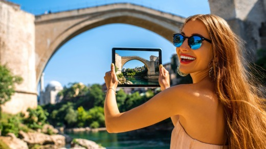 Europe remains one the world's most popular destination in 2016: The old bridge in Mostar, Bosnia and Herzegovina.