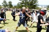 Protestors from both sides clash in Cronulla.