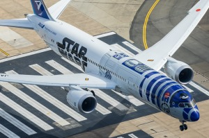 Keep your eyes open for special planes, such as Japanese carrier ANA's R2-D2 style Star Wars jet.