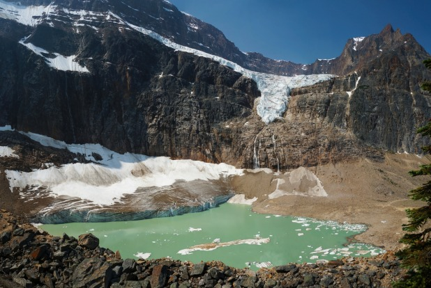 The Angel glacier at Mt Edith Cavell.