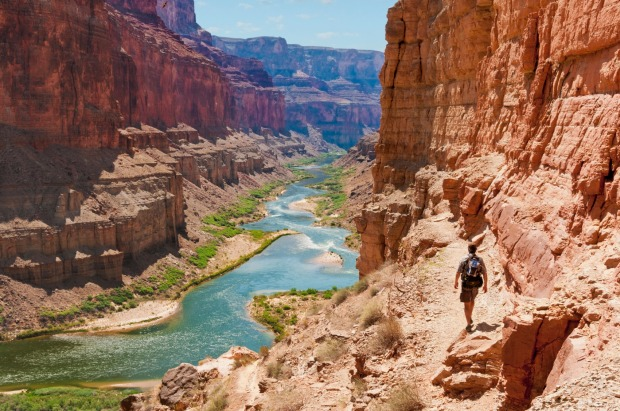 The Grand Canyon is the seventh most checked-in place.