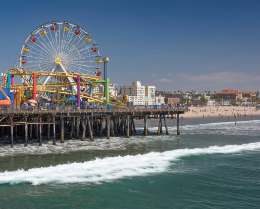 Santa Monica Pier, Los Angeles: The 18th most checked-in place on Facebook.